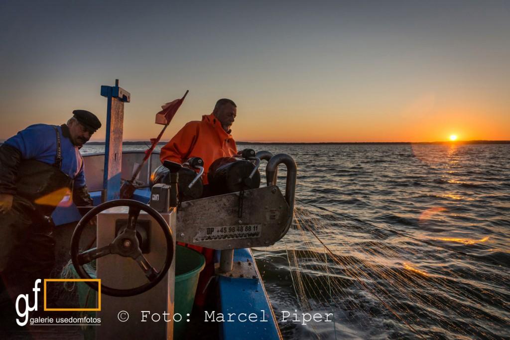 Fischen im Sonnenaufgang