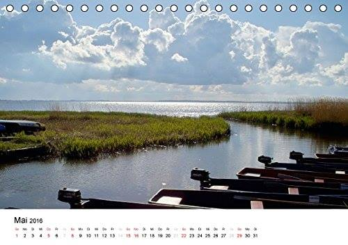 Kalender Usedomfotos 2016 - Ruderboote am Loddiner Achterwasser